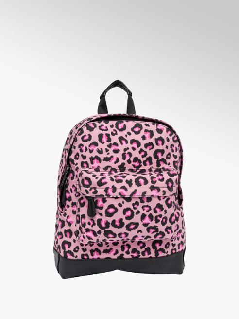 Pink and Black Leopard Print Backpack