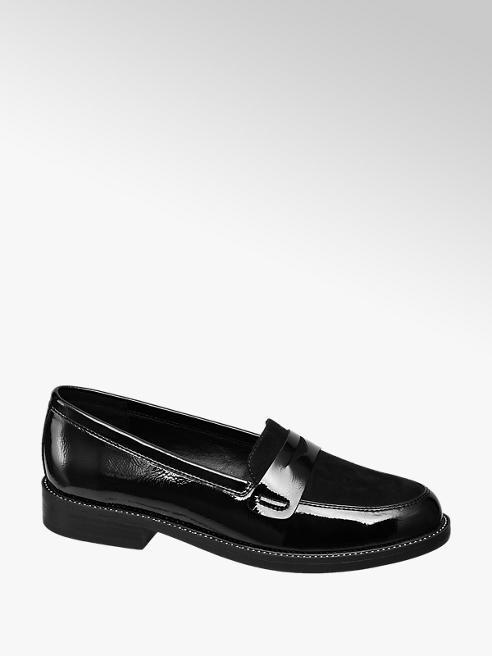 Catwalk Loafer in vernice nera
