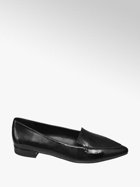 Graceland Loafer nera a punta
