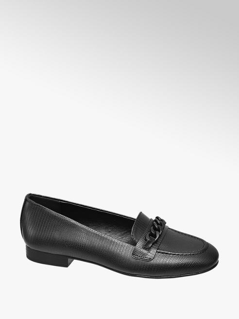 Graceland Loafer pitonata nera