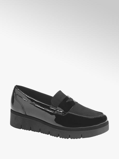 Graceland Loafer platform nera