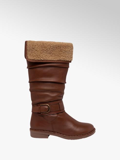 Lotus Tan Leather Long Leg Boots