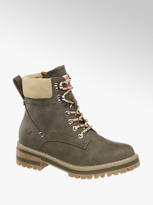 Love our Planet Schnürboots in Khaki