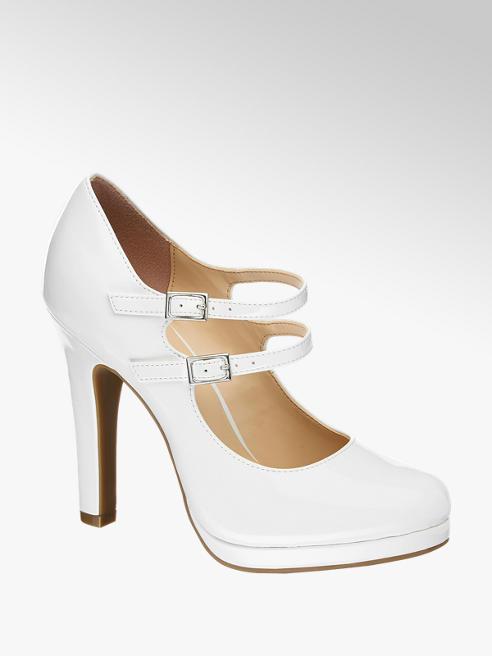 Graceland Mary Jane bianca con cinturini
