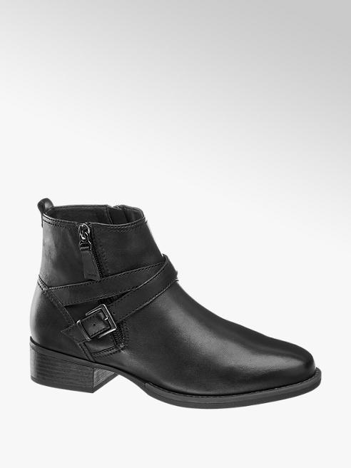 Medicus Black Comfort Buckle Detail Chelsea Boots