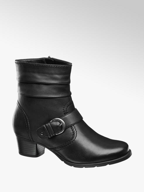 Medicus Black Comfort Heeled Ankle Boots
