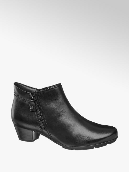 Medicus Black Leather Comfort Ankle Boots