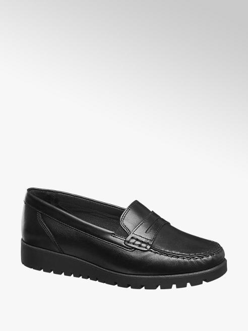 Medicus Black Slip On Comfort Loafers