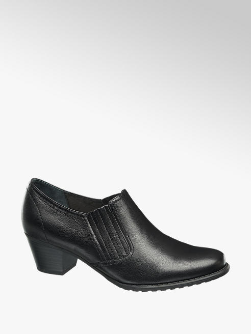 Medicus Black Low Heeled Comfort Shoes
