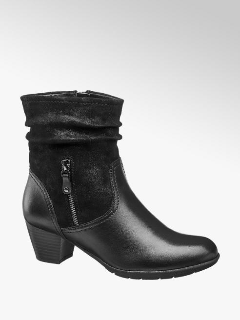 Medicus Black Leather Comfort Boots