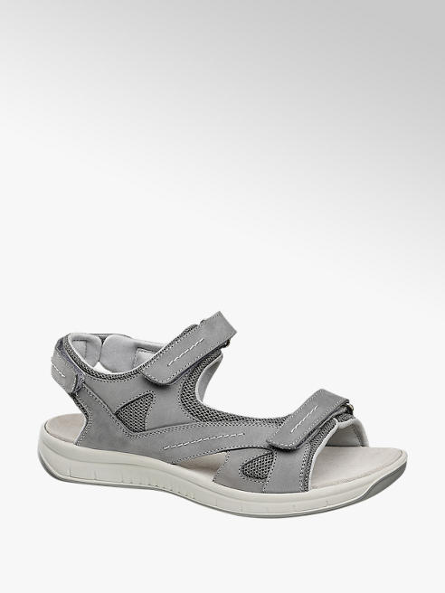 Medicus Grey Leather Comfort Sporty Sandals