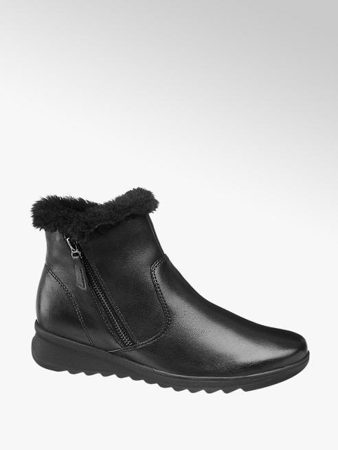 Medicus Black Wedge Heel Comfort Boots