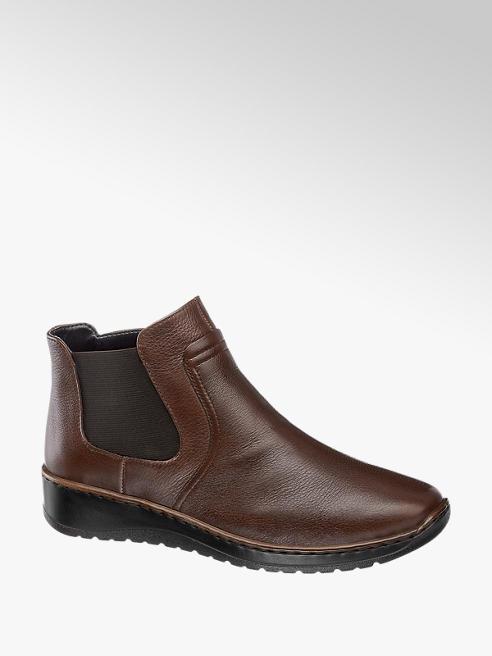Medicus Leder Chelsea Boots in Braun, Weite G