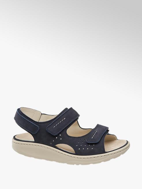 Medicus Leder Komfort Sandalen in Blau, Weite H