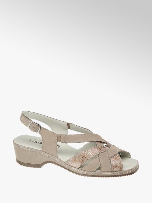 Medicus Leder Komfort Sandaletten in beige, Weite G
