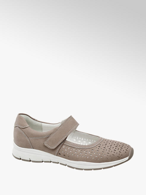 Medicus Leder Komfort Slipper in Taupe, Weite G