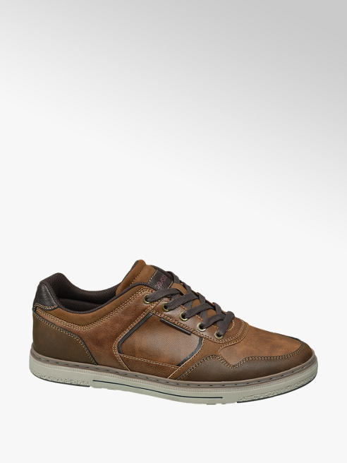 Memphis One Cognac sneaker vetersluiting