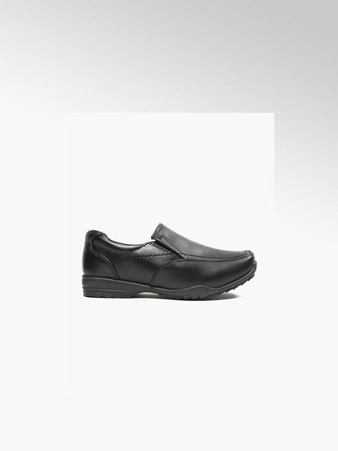 Memphis One Junior Boy Black Slip On School Shoes