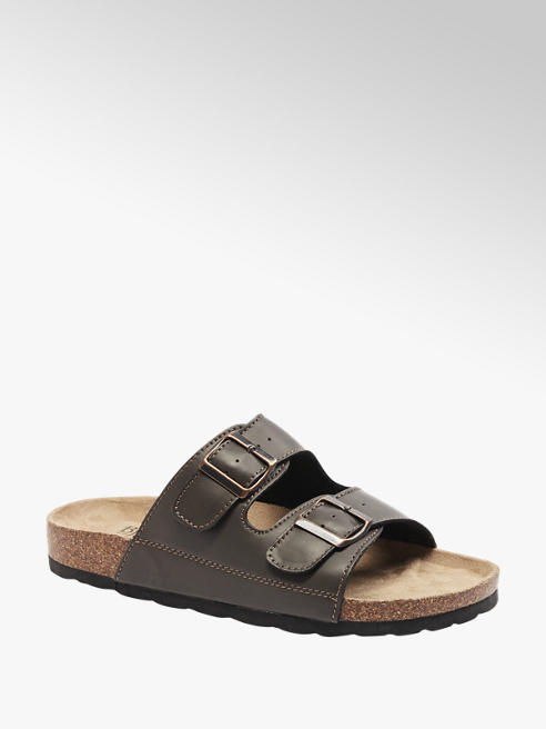 Memphis One Mens Memphis One Brown Twin Buckle Footbed