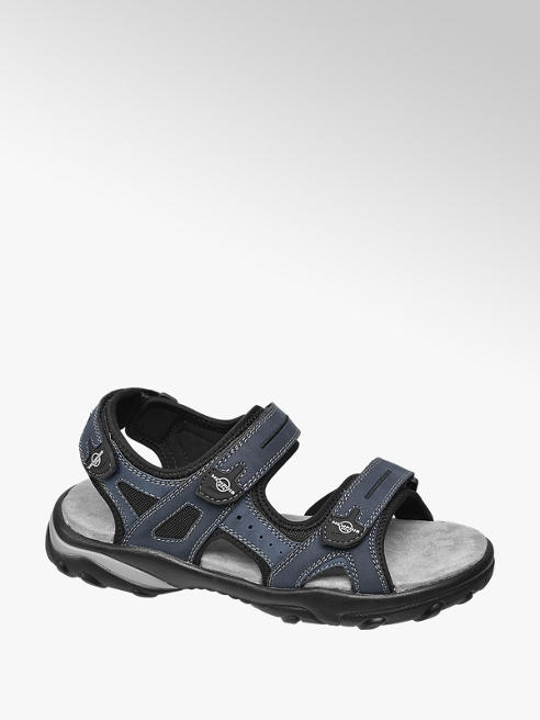 Memphis One Mens Casual Blue/Black Full Strap Sandal