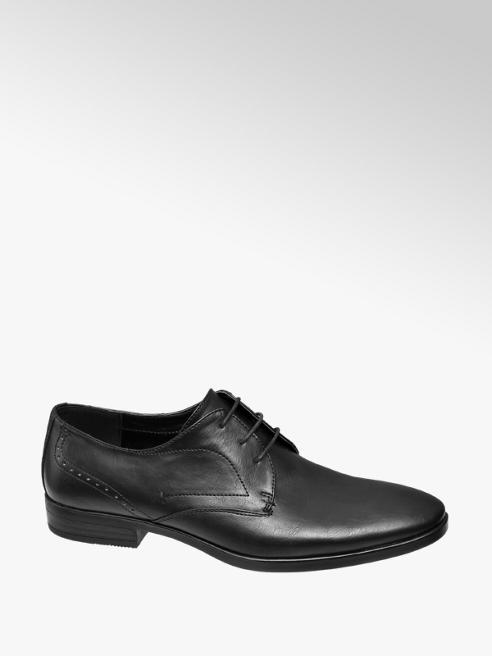 Memphis One Mens Black Formal Lace-up Shoe