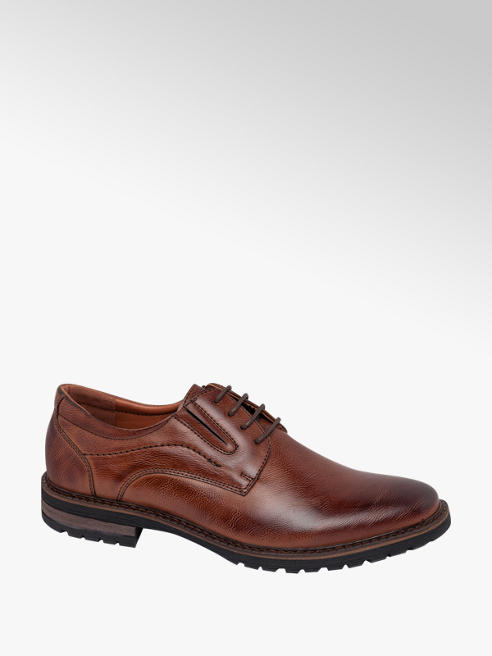 Memphis One Mens Memphis One Brown Formal Lace-up Shoes