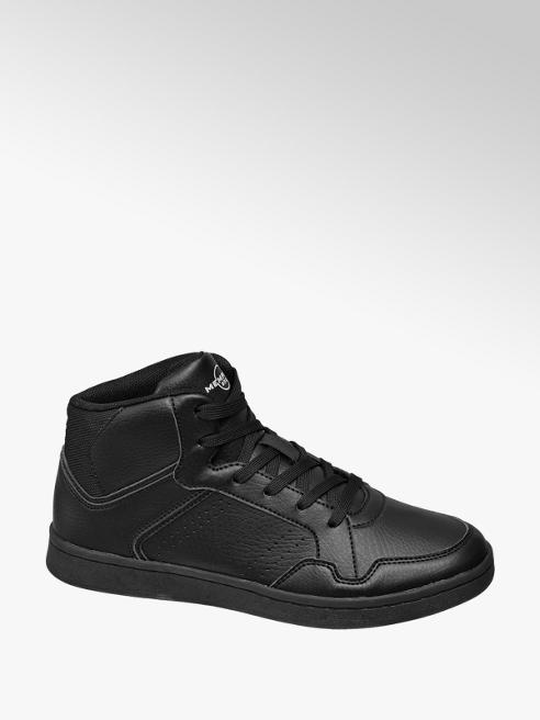 Memphis One Teen Boys Black Lace Up Hi Top Trainers