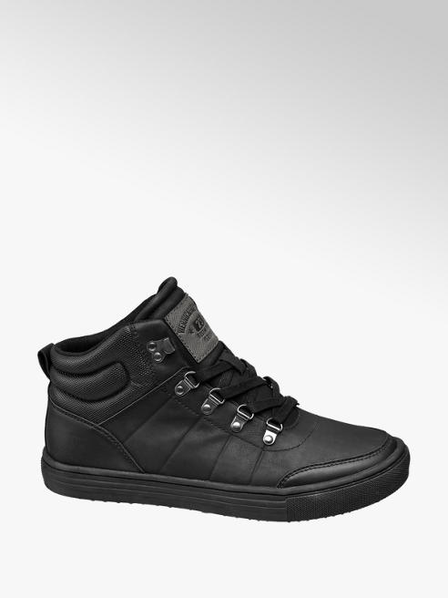 Memphis One Zwarte halfhoge schoen vetersluiting