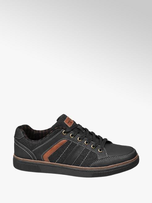 Memphis One Zwarte sneaker slagenprint
