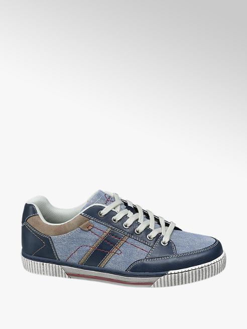 Memphis One Blauwe canvas sneaker