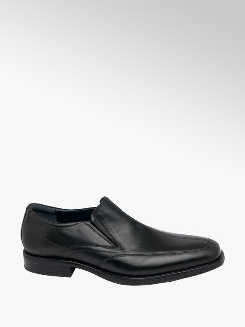 Claudio Conti Mens Claudio Conti Black Leather SLip-on Shoes