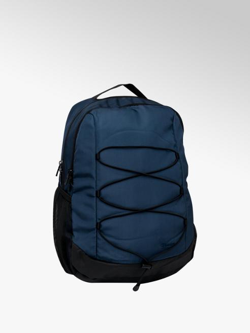 Mens Dark Blue Drawstring Backpack