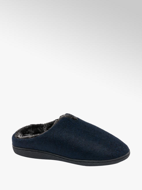 Mens Felt Mule Slippers