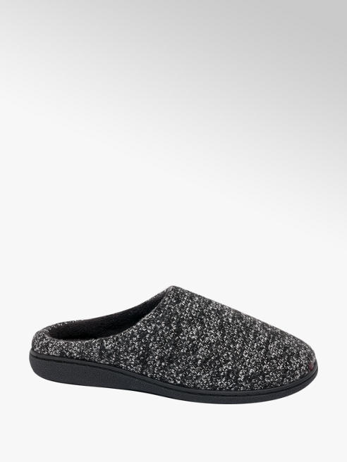 Mens Knitted Mule Slippers