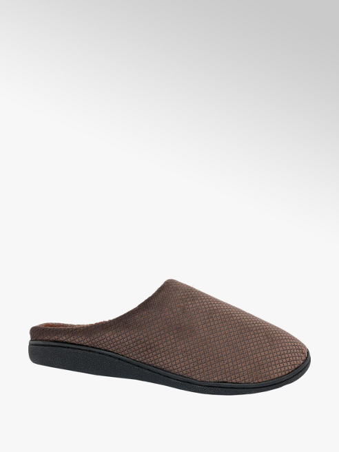 Mens Velour Mule Slippers
