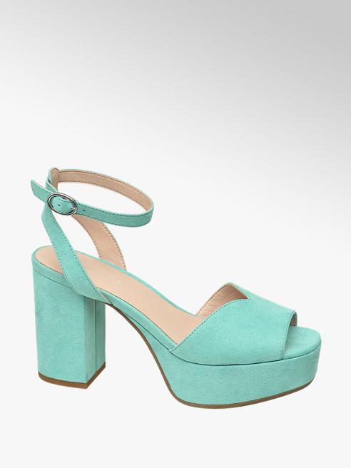 Star Collection Mentolovozelené sandále na podpätku Rita Ora