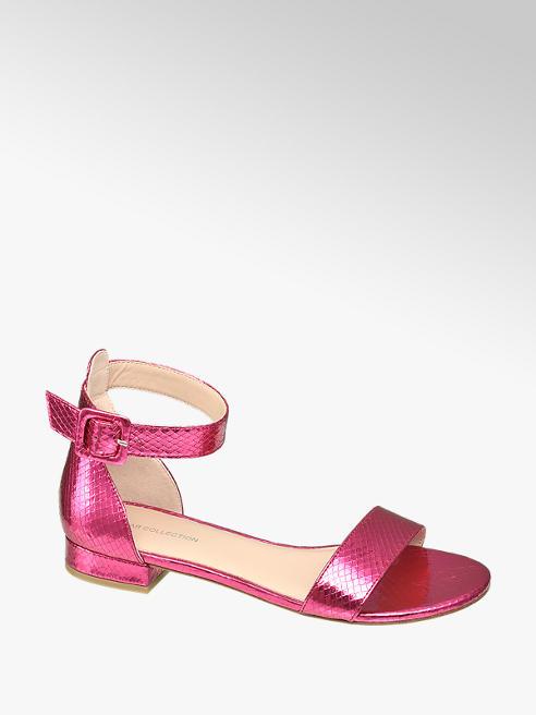 Star Collection Metalické růžové sandály Rita Ora se zvířecím vzorem