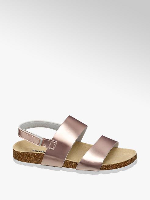 Graceland Metalické sandále Graceland
