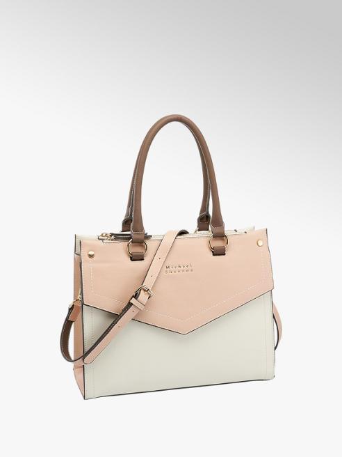 Michael Shannon Handtasche in Rosa-Weiß