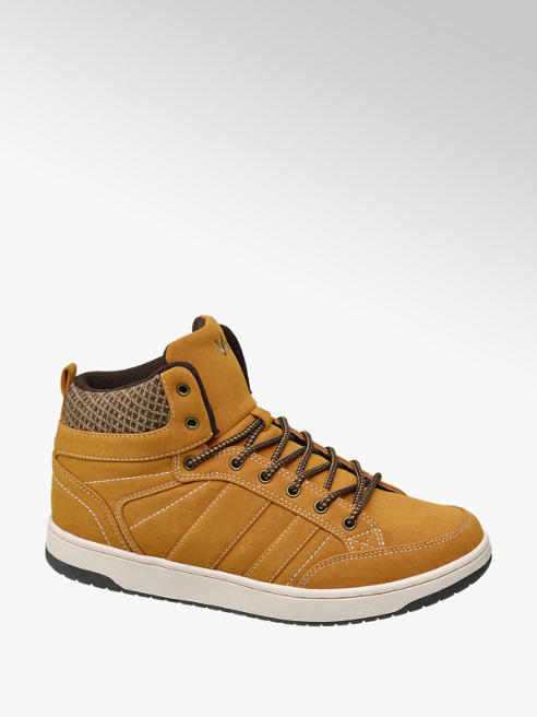 Vty Mid Cut color ocra in similpelle