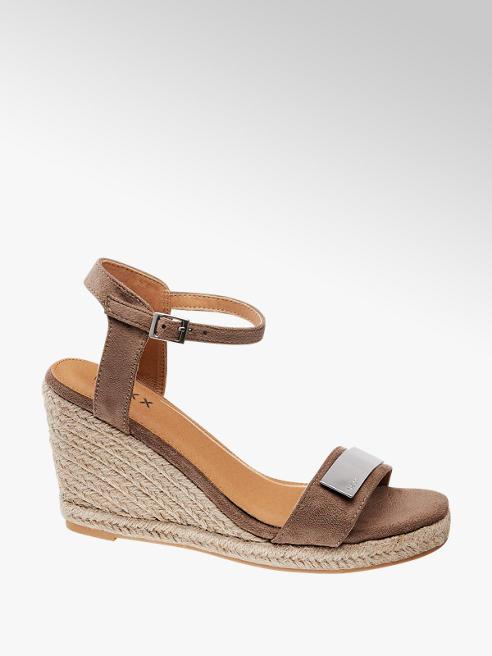 MEXX sandały na koturnie