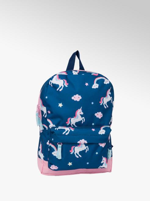 Modrý batoh s jednorožci