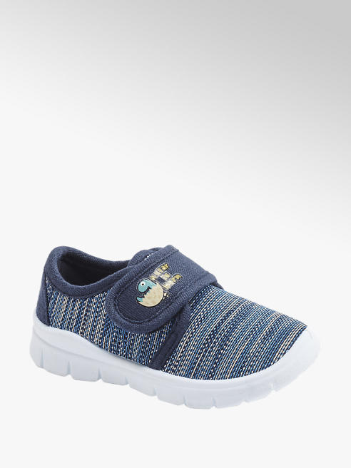 Bobbi-Shoes Modré detské prezuvky Bobbi Shoes