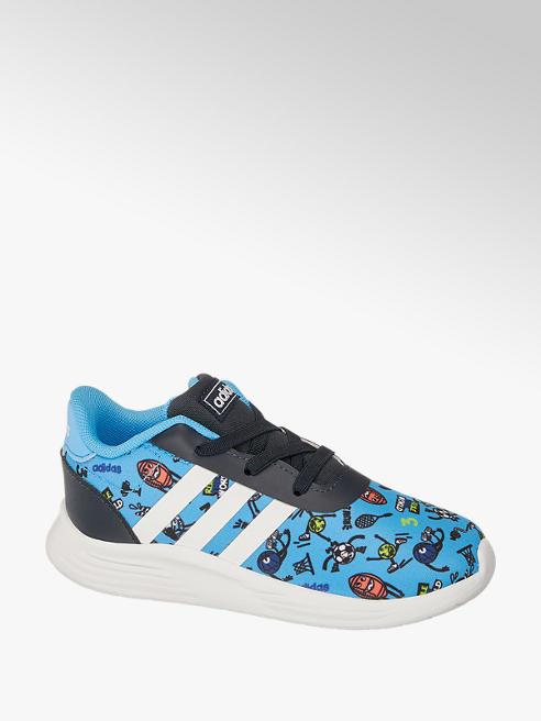 adidas Modré detské slip-on tenisky Adidas Lite Racer 2.0 s elastickými šnúrkami