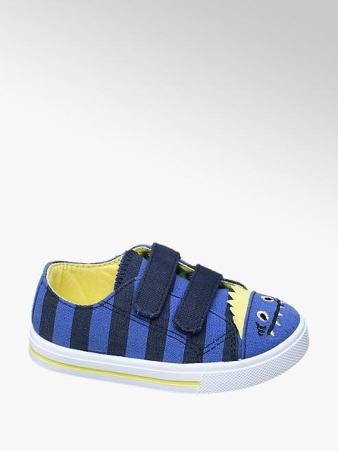 Bobbi-Shoes Modré dětské bačkůrky na suchý zip Bobbi-Shoes