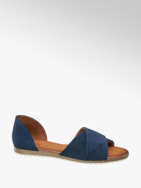 5th Avenue Modré kožené sandály 5th Avenue