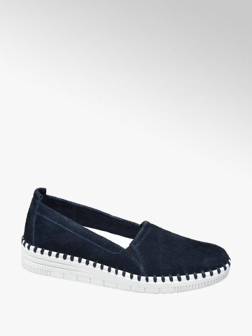 5th Avenue Modrá kožená slip-on obuv 5th Avenue Soft