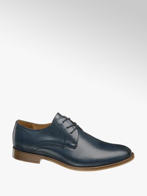 Wojas Modrá kožená spoločenská obuv Wojas