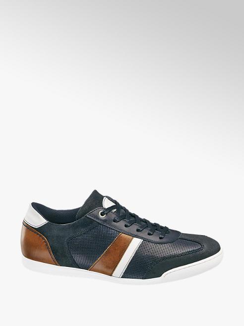 AM SHOE Modré kožené tenisky AM Shoe