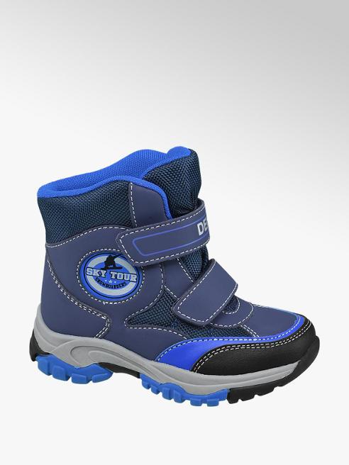 Cortina Modrá kotníková obuv na suchý zip Cortina s TEX membránou
